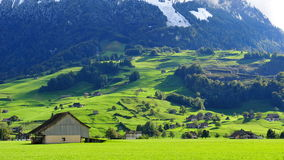 Scenic mountain landscape in Swiss Knife Valley Royalty Free Stock Photography