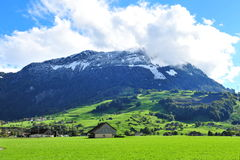 Scenic mountain landscape in Swiss Knife Valley Stock Photo