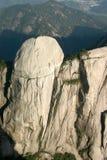 Scenic mountain range. Aerial view of white rocky ride on mountain range Royalty Free Stock Photo