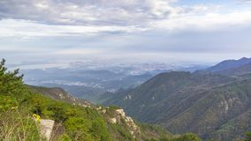 Timelapse footage of China Mountain Lu sea of clouds landscape in late autumn stock video footage