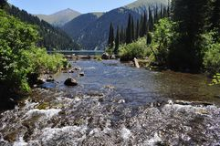Scenic mountain river Royalty Free Stock Photography