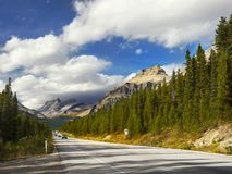 Scenic Mountain Road, Canadian Rockies royalty free stock photo