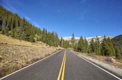 Scenic mountain road, Colorado, USA Royalty Free Stock Photography