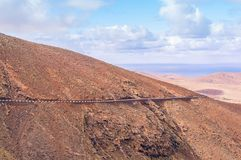 Scenic Mountain Road in Fuerteventura, Spain Stock Photography