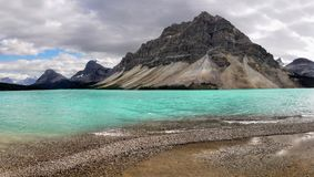 Scenic Mountain Lake, Icefields Parkway, Canadian Rockies royalty free stock photos