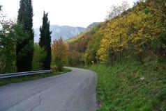 Scenic Mountain Road Royalty Free Stock Photos