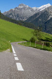 Scenic mountain road in Northern Italy Stock Photo