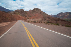 Scenic mountain road Stock Images