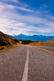 Scenic mountain road in the Southern Alps Royalty Free Stock Photo