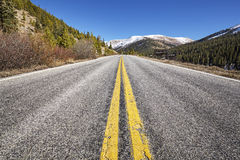 Scenic mountain road, travel concept picture, Colorado, USA Stock Photo