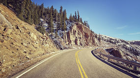 Scenic mountain road, travel concept. Royalty Free Stock Photo
