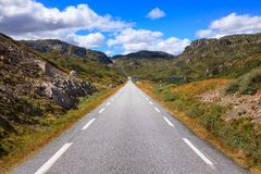 Scenic mountain road in Norway Scandinavia. Scenic mountain road in Vest-Agder county, Norway, Scandinavia royalty free stock image