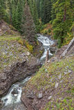 Scenic Mountain Stream in Fall Stock Photography