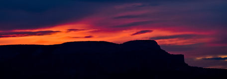 Scenic Mountain Sunset Stock Photography
