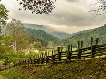 Scenic Mountain Valley in Early Fall stock image
