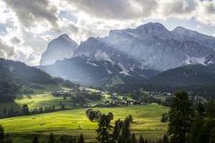 Scenic mountain view Cortina D´ampezzo Italy Stock Photography