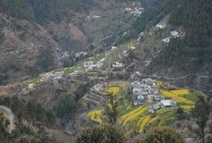Scenic Mountain. Scenic village on mountain near Dalhousie   India Royalty Free Stock Photos