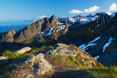 Mountains on Lofoten Royalty Free Stock Image