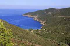Scenic mountains and bay of the Aegean Sea. Royalty Free Stock Photos