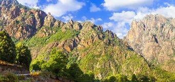 Scenic  mountains of Corsica Royalty Free Stock Photos