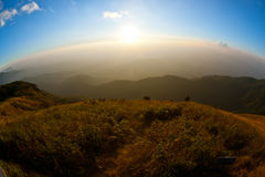 Scenic mountaintop. Scenic landscape as seen from a high mountaintop Royalty Free Stock Photos