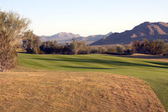 Scenic Moutainous Desert Golf Course Royalty Free Stock Images