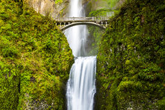 Scenic Multnomah Falls in Oregon Royalty Free Stock Photography