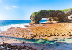 Scenic natural arch, Talava Arch, Niue Stock Photography