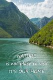 Scenic nature background with text royalty free stock photography