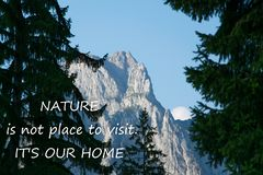 Scenic nature background with text stock images