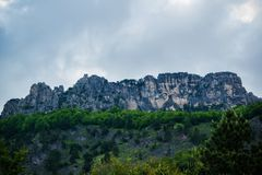 Scenic nature view of the awesome mountains royalty free stock image
