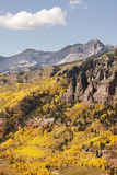 Scenic near Telluride, Uncompahgre National Forest, Colorado. USA Royalty Free Stock Photography