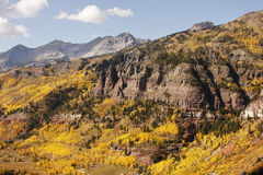 Scenic near Telluride, Uncompahgre National Forest, Colorado Royalty Free Stock Photos