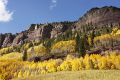 Scenic near Telluride, Uncompahgre National Forest, Colorado Stock Photography