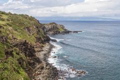 Scenic North Maui Coast Landscape Stock Photography