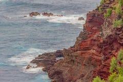 Scenic North Maui Coastline Landscape. Teh scenic landscape of the north Maui coastline Royalty Free Stock Photography