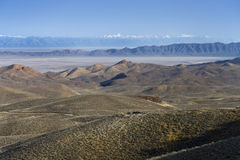 Scenic Northern Nevada mountain ranges Stock Photo