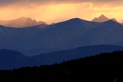 Scenic Northern Rockies of British Columbia Stock Photography