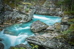 Scenic Norwegian Glacial River Royalty Free Stock Photos