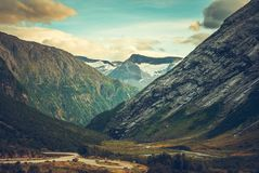 Scenic Norwegian Place Royalty Free Stock Photography