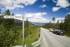 Scenic Norwegian roadway Stock Photo