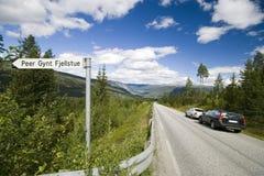 Scenic Norwegian roadway Stock Photo