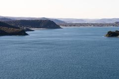 Scenic ocean panorama, Sydney Northern Beaches. Stock Images