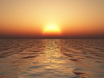 Scenic ocean sunset Royalty Free Stock Photography