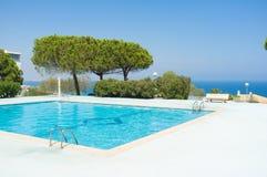 Scenic ocean view pool Royalty Free Stock Photos