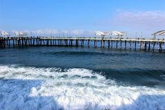 Scenic View of Redondo Landing California in Los Angeles County, California, United States stock images