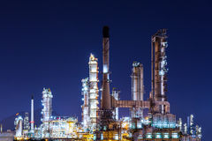 Scenic of oil refinery plant Industry at night Royalty Free Stock Photography
