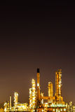 Scenic of oil refinery plant Industry at night Stock Photography