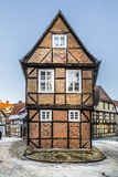 Scenic old half timbered houses in Quedlinburg Stock Photography