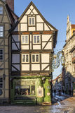 Scenic old half timbered houses in Quedlingburg Stock Photography